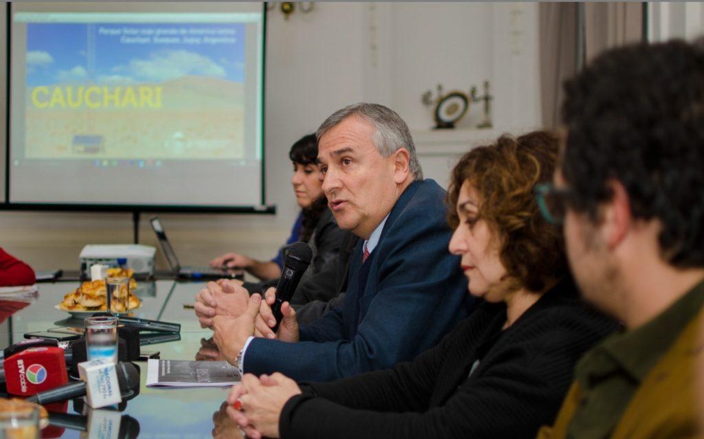 Tras su viaje a China, Gerardo Morales expuso en el Salón Blanco los avances del proyecto Cauchari.