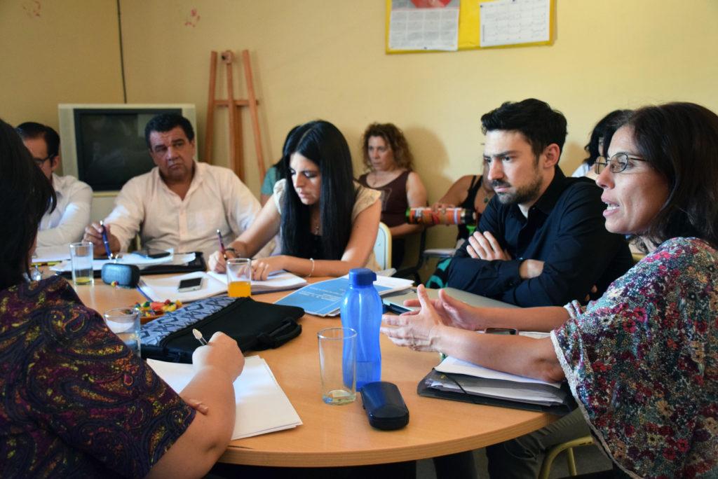 Miembros de los equipos técnicos de los institutos de Educación Superior junto a la directora Natalia García Goyena y el director de Formación Docente Inicial Emmanuel Lista.