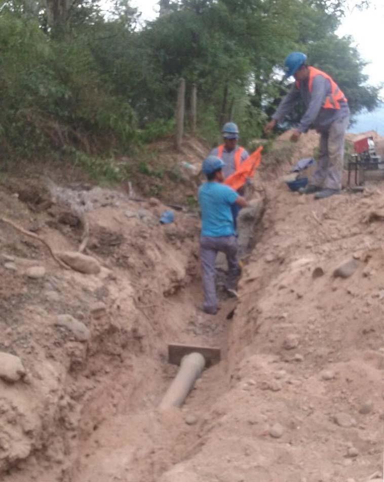 Agua Potable de Jujuy realizó en la localidad de La Mendieta una importante obra de un nexo de conducción a la existente.