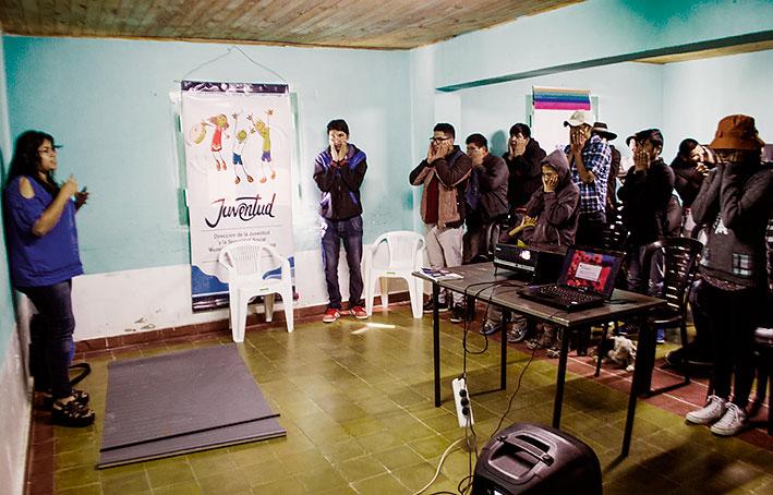 En la Casa del Futuro de la ciudad de Abra Pampa, jóvenes y adolescentes participaron de los talleres de capacitación.